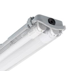 Waterdichte armatuur met twee 1500mm LED tl's 110l/w IP65 IK07